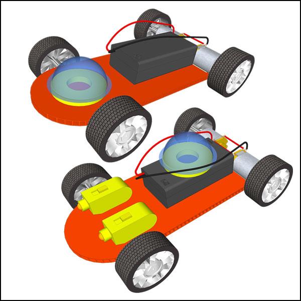 [척척박사네1413] 뉴 듀얼 모터 전동 자동차 만들기(일반형/레이저형)-1인용/5인용