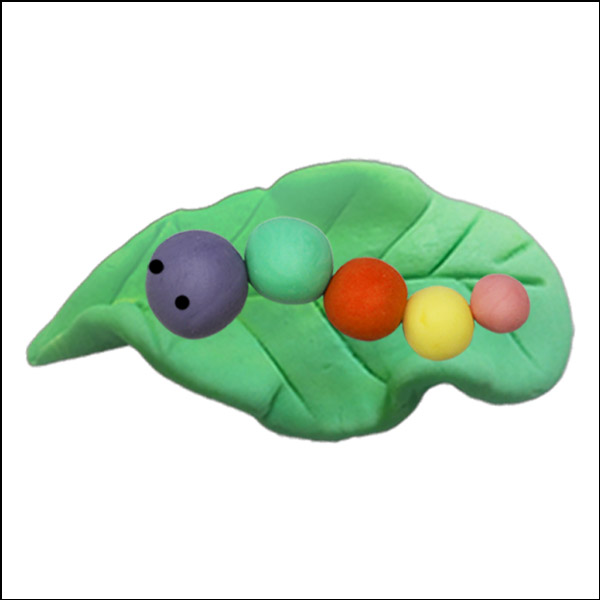 [척척박사네1504] 오물조물비누 색혼합 애벌레(5인세트)