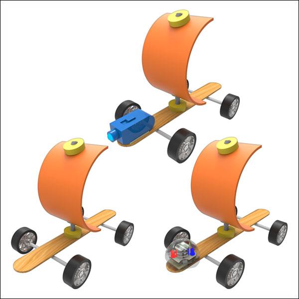 뉴 바람으로 가는 자동차(나무 스틱)-일반형/레이저형/LED형(1인용/5인용)
