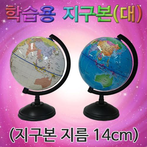 [척척박사네2081] 학습용 지구본(대)-지구본 지름 14cm