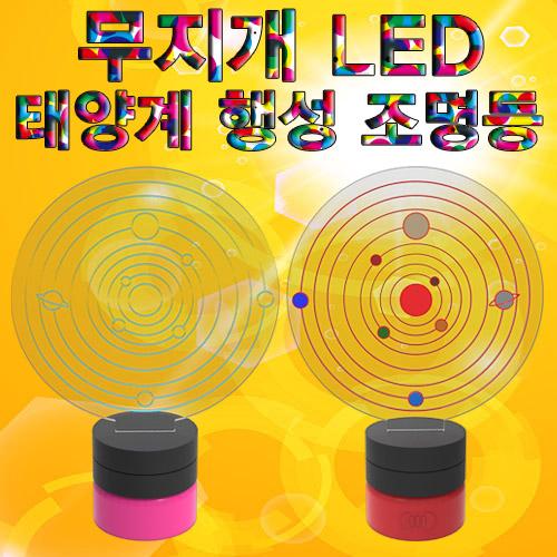 [척척박사네0140] 무지개 LED 태양계 행성 조명등(1인용/5인용)