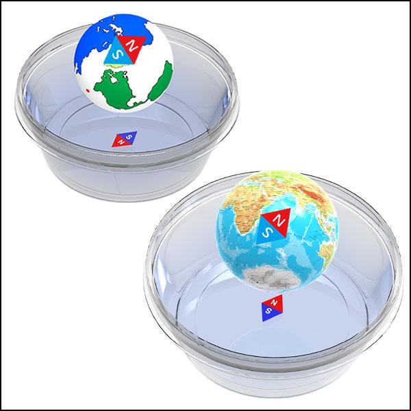 [척척박사네1269] 워터 나침반 지구본(일반형/지구본형)-1인용/5인용