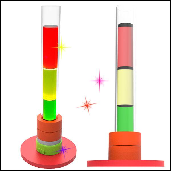 [척척박사네1740] 용액의 농도실험 설탕물 삼색탑(5인용)-LED형