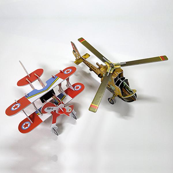 [척척박사네1931] 3D 입체퍼즐 비행기와 헬리콥터 세트