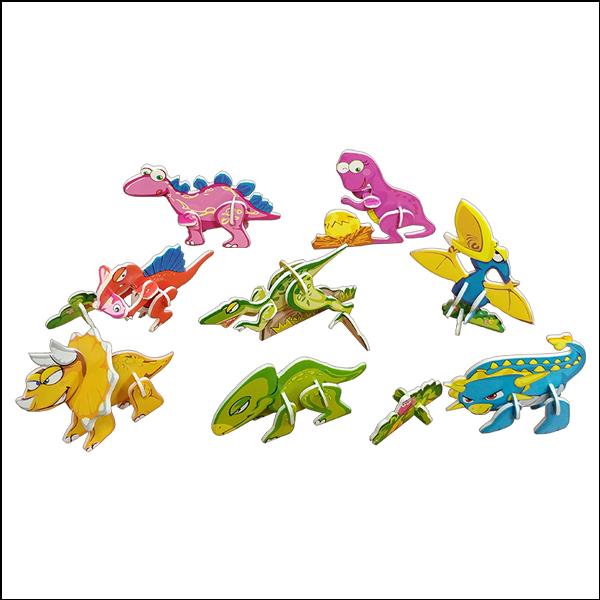 [척척박사네1441] 3D 입체퍼즐 미니 공룡 8종 세트