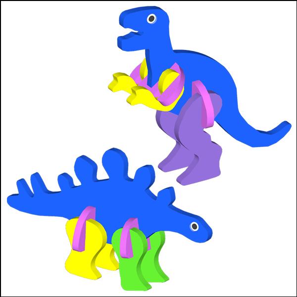 [척척박사네1927] EVA 미니 공룡시리즈(스테고사우루스/티라노사우루스)