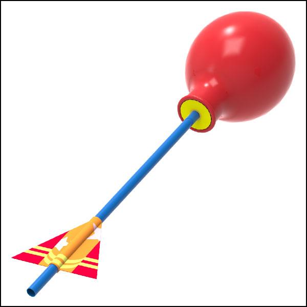 [척척박사네0054] 풍선 에어로켓 만들기(10인용)