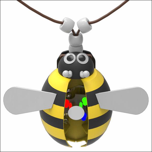 뉴 LED 꿀벌 목걸이 만들기