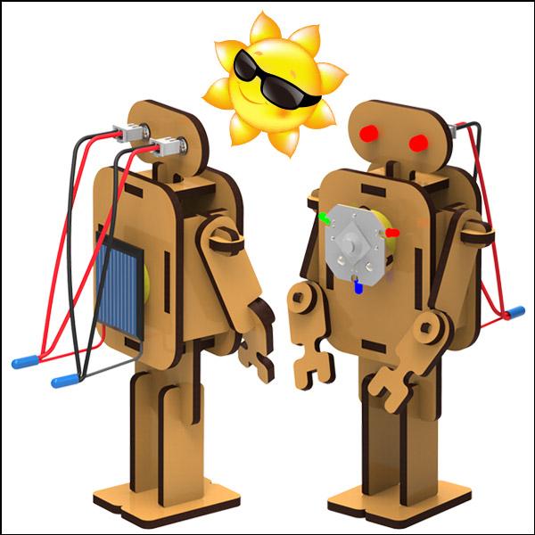[척척박사네2424] DIY 태양광 LED 로봇조명등(LED형)