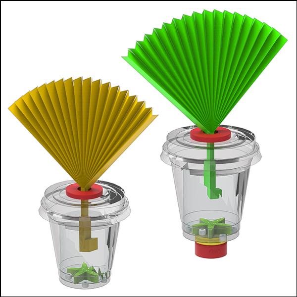 [척척박사네2512] 한지 부채꽃 가습기(일반형/LED형)-1인용/5인용