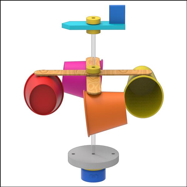 [척척박사네2510] 창작용 종이컵 풍향풍속계(일반형/LED형)-1인용/5인용