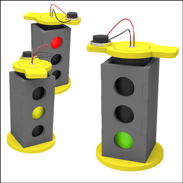 [척척박사네2480] LED 3색 회전 신호등 만들기(1인용/5인용)