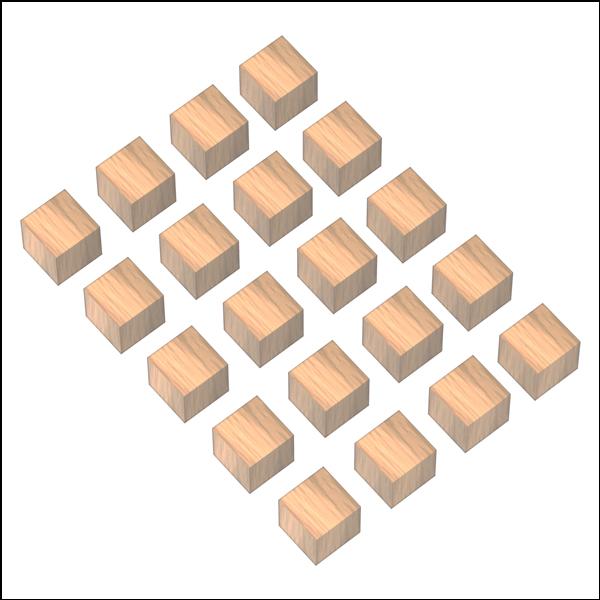 [척척박사네2280] 정사각 나무 도형 블록(20pcs)