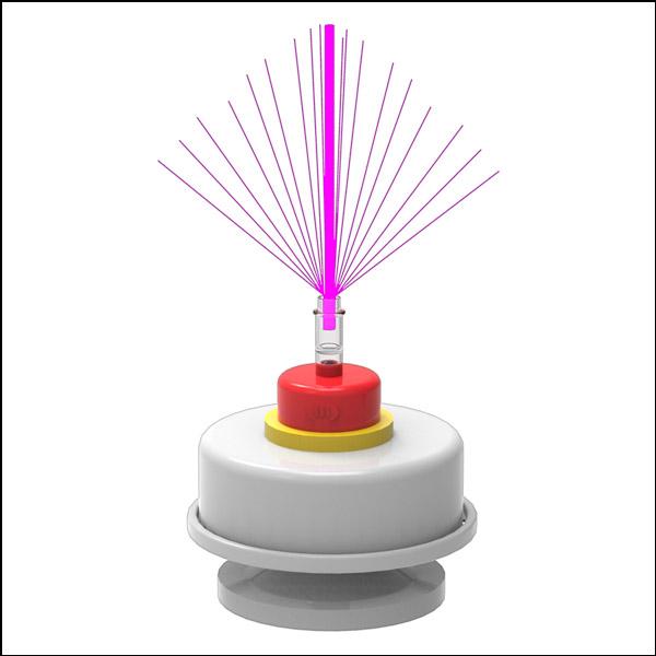 무지개 LED 광섬유 조명등 회전 오르골