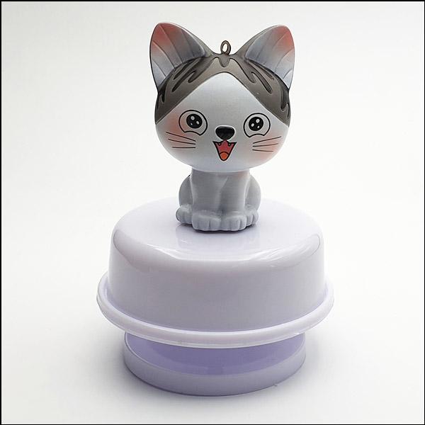 [척척박사네2526] 고양이 회전 오르골 뮤직 박스