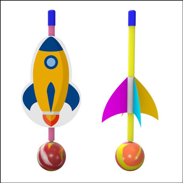 [척척박사네2584] 2in1 탱탱볼 점핑 로켓(5인용)