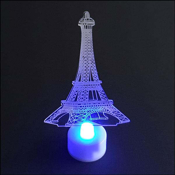 [척척박사네2601] LED 입체 에펠탑 조명등