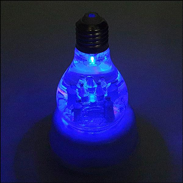 [척척박사네2767] LED 회전 오르골-무지개 스노볼 유럽 성