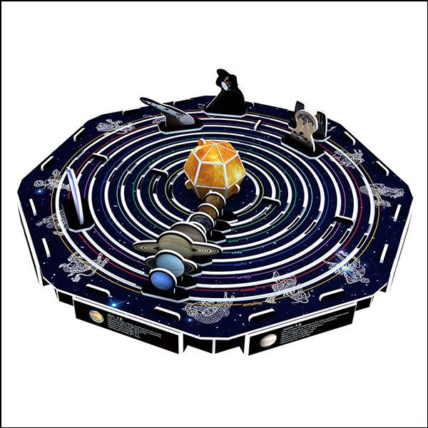 [척척박사네2635] 3D 입체퍼즐 태양계 행성(45pcs)