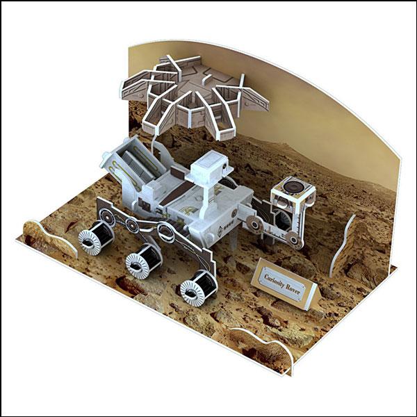 [척척박사네2636] 3D 입체퍼즐 화성 탐사로봇(62pcs)