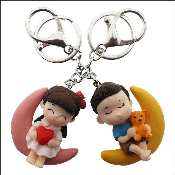 [척척박사네2657] 달빛 소년과 소녀 열쇠고리(키홀더)