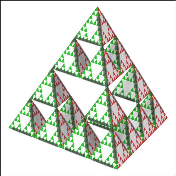 [척척박사네2948] 시어핀스키 피라미드(1인용/4인용/16인용)