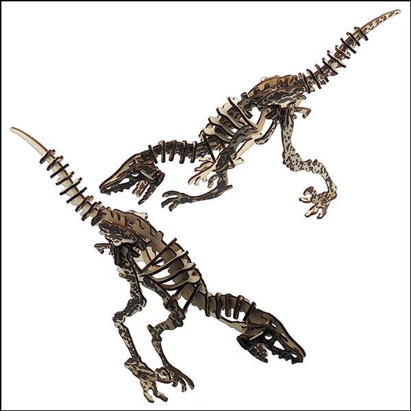 [척척박사네3018] 3D 입체 컬러퍼즐 대형 나무 공룡(벨라키랍토르-40pcs)
