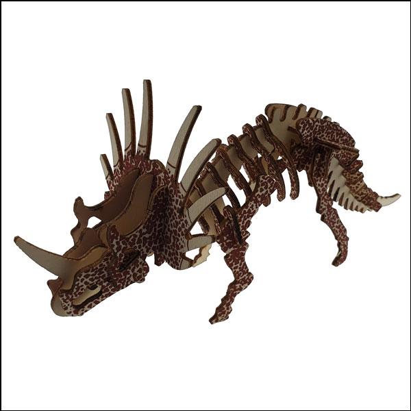 [척척박사네3019] 3D 입체 컬러퍼즐 대형 나무 공룡(스티라코사우루스-36pcs)