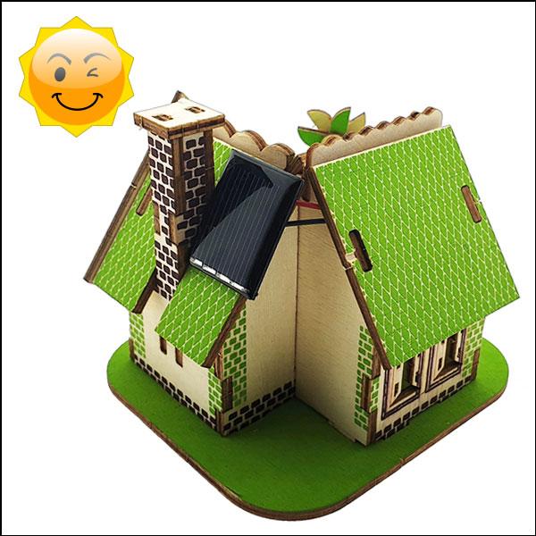 [척척박사네3030] 3D 입체퍼즐 나무 태양광 주택
