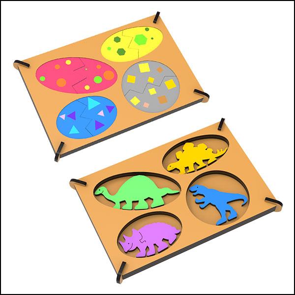[척척박사네3038] DIY 공룡 알 부화 퍼즐 액자