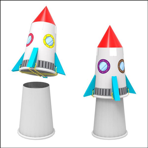 [척척박사네3066] 고무줄 점핑로켓(1인용/5인용)