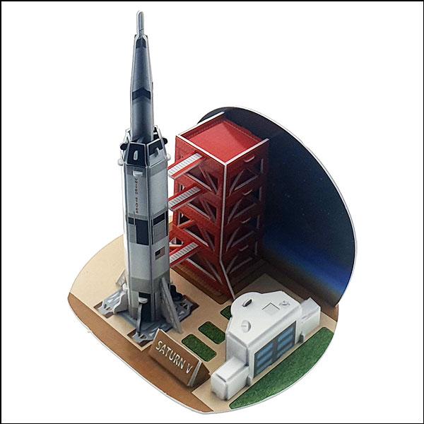 [척척박사네3082] 3D 입체퍼즐 아폴로 새턴 V 우주선(25pcs)