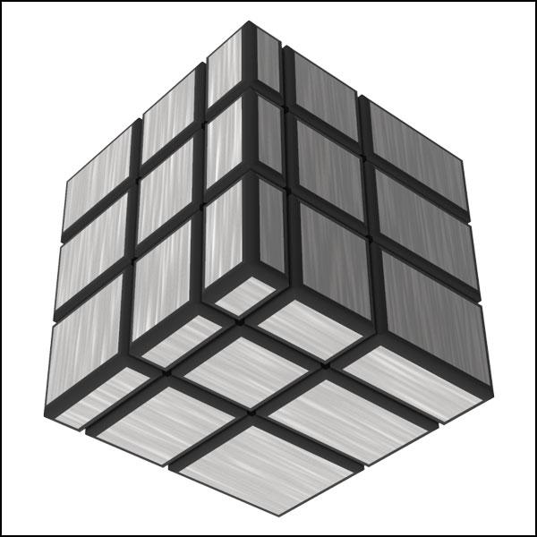 [척척박사네3100] 실버 미러 큐브 333