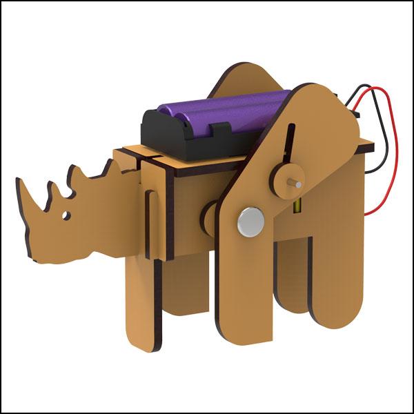 [척척박사네3104] DIY 코뿔소 4족 로봇