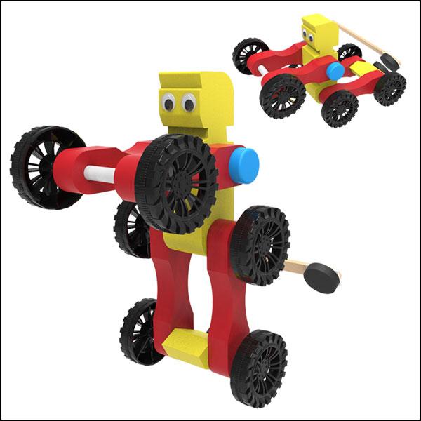 [척척박사네3112] 뉴 자석 변신로봇자동차(일반형/LED형)-1인용/5인용