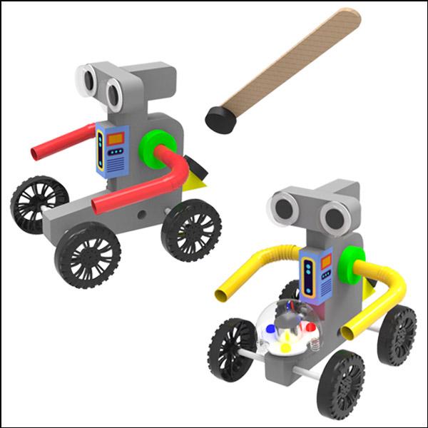 [척척박사네3121] 슈퍼레이스 자석으로 가는 로봇(일반형/LED형)-1인용/5인용