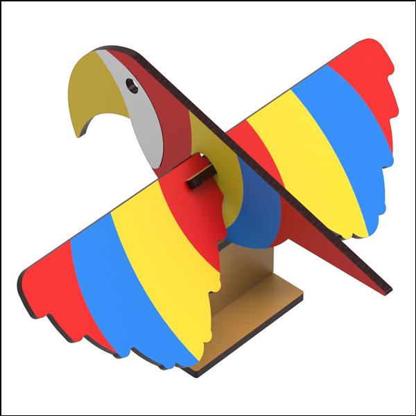 [척척박사네3133] DIY 날개 회전 무게중심 앵무새