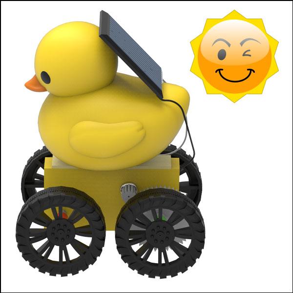 [척척박사네3144] 노란 오리 태양광 기어 자동차