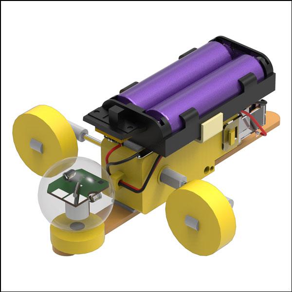 [척척박사네3163] LED 진동 기어박스 로봇