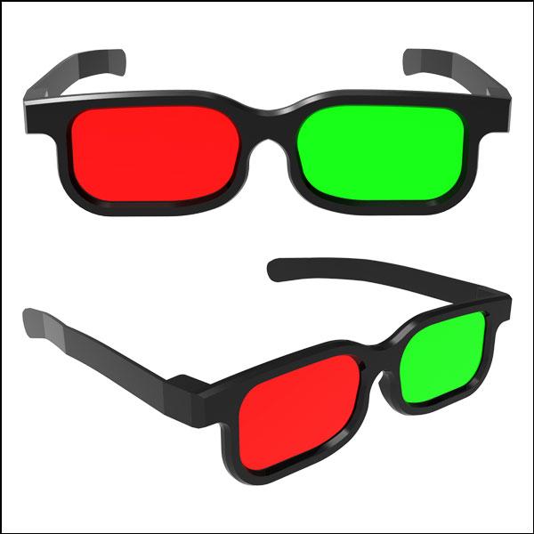 [척척박사네3166] 3D 입체안경(적&녹)