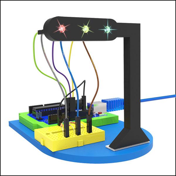 코딩자람 자동제어 3색 신호등(기본형/풀세트형)