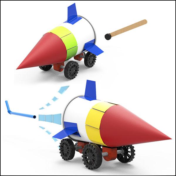 2in1 바람과 자석으로 가는 로켓자동차(1인용/5인용)
