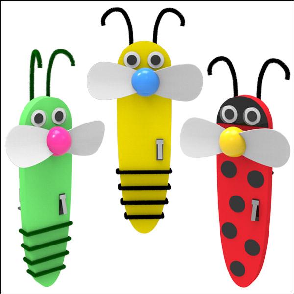 휴대용 곤충 선풍기 만들기(꿀벌/메뚜기/무당벌레)