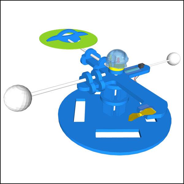 뉴 창작용 풍력 회전 UFO 만들기