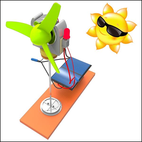 뉴 LED 에코 태양광 발전기 만들기(1인용/5인용)