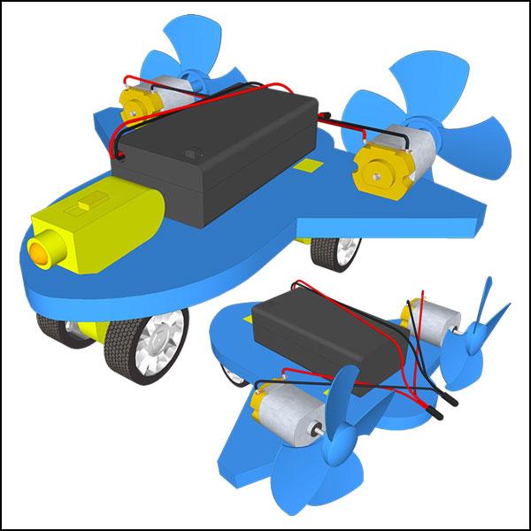 뉴 듀얼 모터 쌍날개 전동 풍력 비행기 만들기(일반형/레이저형)-1인용/5인용