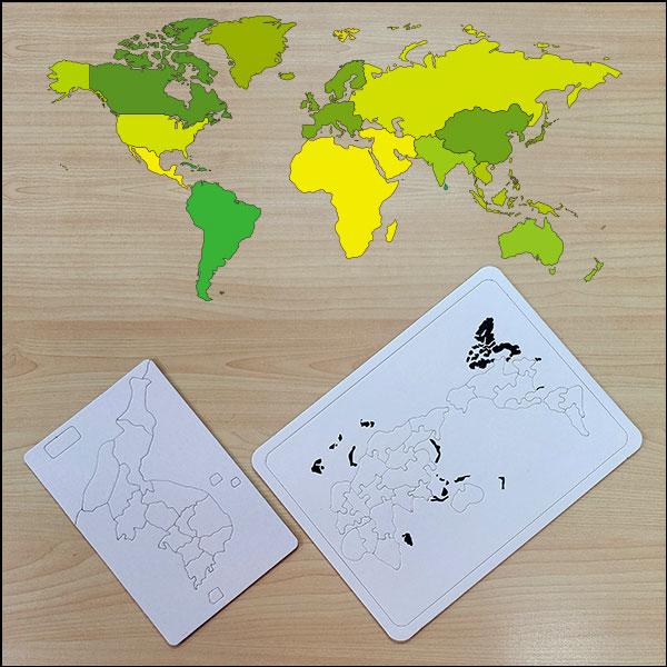 창작용 종이 지도퍼즐 꾸미기(한국지도/세계지도)