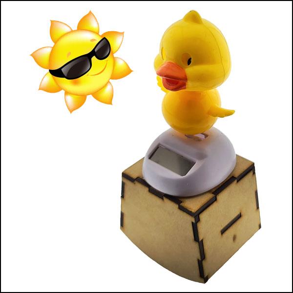 [척척박사네3609] DIY 흔들흔들 오르골 뮤직박스(태양광 노란 오리) 만들기