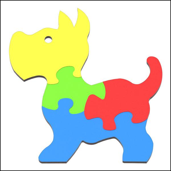 [척척박사네3613] DIY 창작용 3D 퍼즐 강아지(4pcs)