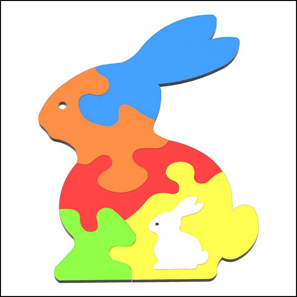 [척척박사네3615] DIY 창작용 3D 퍼즐 토끼(6pcs)